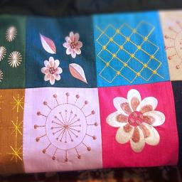 ベトナム刺繍のバッグ