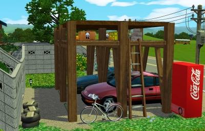 車庫(別角度から)