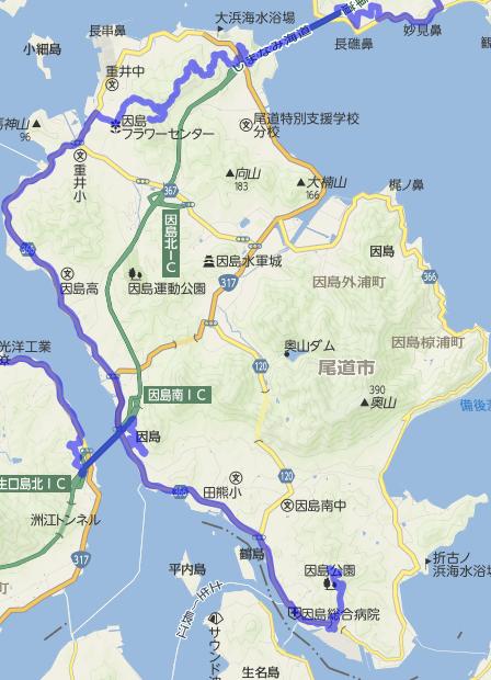 因島MAP