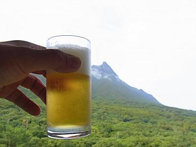ビールと屋久島