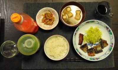 秋刀魚の夕食