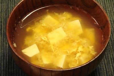 豆腐と玉子の味噌汁