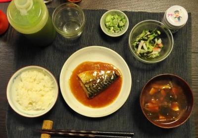 鯖の味噌漬け定食