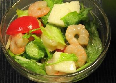 小海老と山芋入りのサラダ