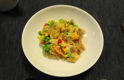 色々野菜の卵寄せ