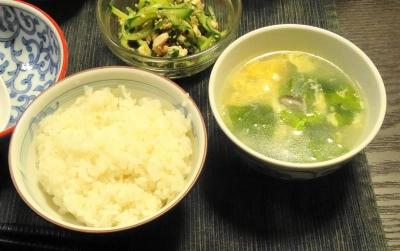 玉子スープにご飯