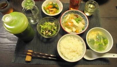 肉豆腐の夕食2