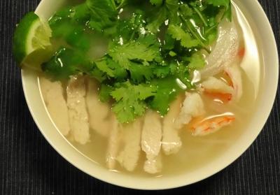 海老+鶏胸+香菜
