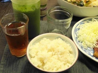 ジュース&ご飯