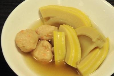 タケノコと鶏の肉団子