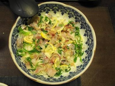 アジの手捏ね寿司 大鉢盛り