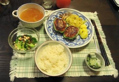 スタッフ・ド・ピーマンの夕食
