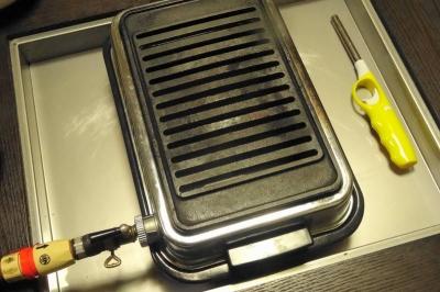 鍋テーブル&焼き肉器