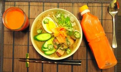 冷麺&ゲルソンジュース