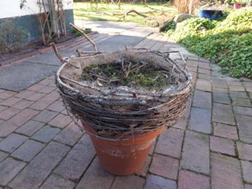 ボロボロの籠