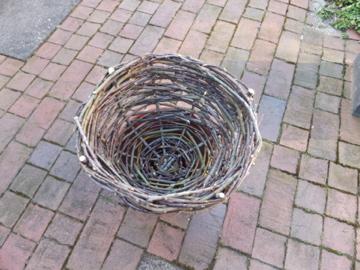 新しく作った籠
