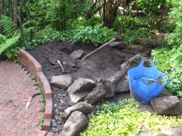石掘り作業