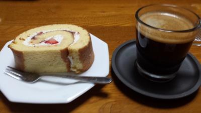 ケーキとコーヒー