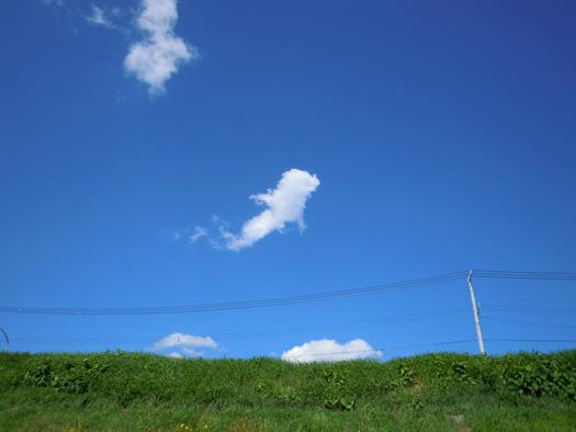 一反もめんの雲。