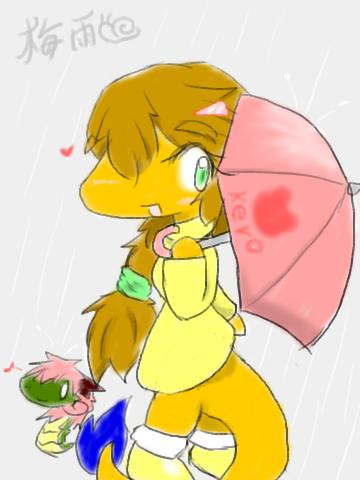 2014梅雨パラソルお姉ネスコちゃん