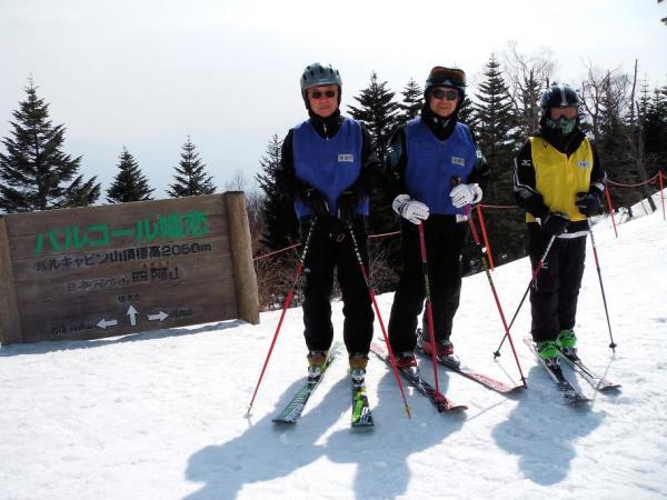 標高2050m 4.5kmのダウンヒルが楽しめます 長丁場滑っても疲れないスキーメソッドです