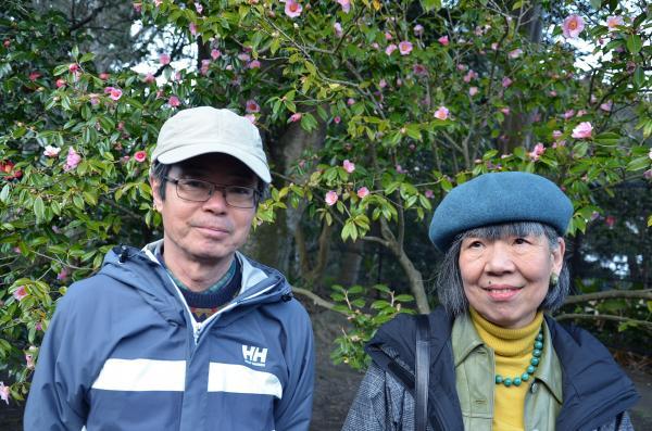 京都 高台寺のお客様 明日は椿染めを楽しまれるそうです