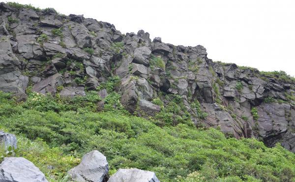 カルデラ壁