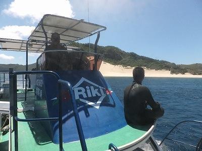RIKIのボートから