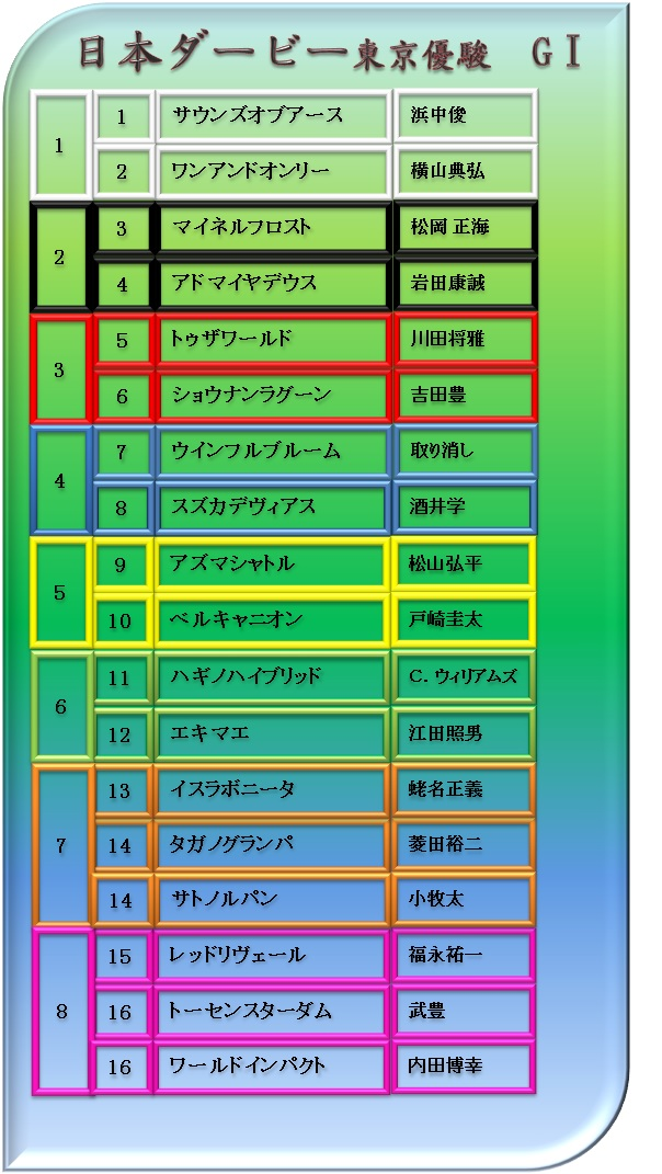 2014日本ダービー