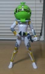 AC05仮面ライダー斬月メロンアームズ(変身途中)