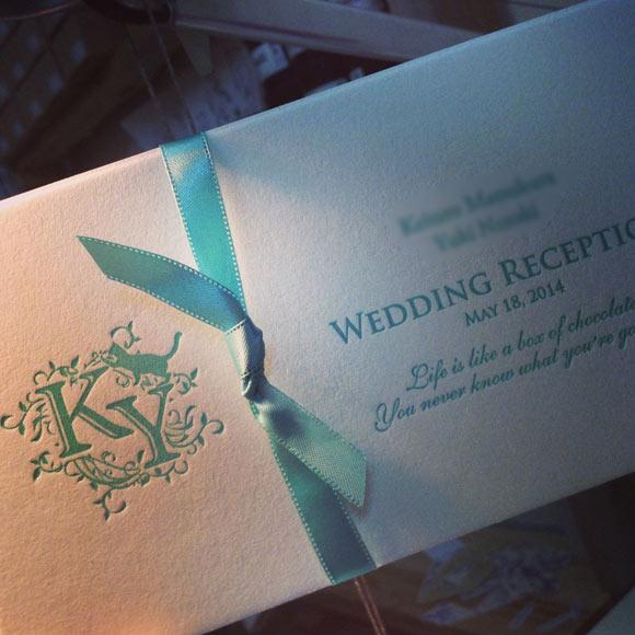 活版印刷の招待状 letterpress invitation