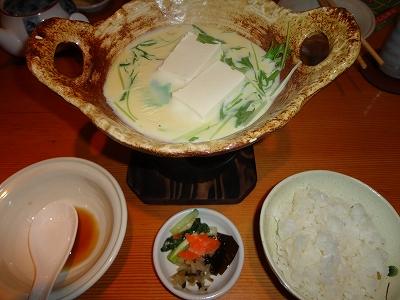 豆乳豆腐 ごはん