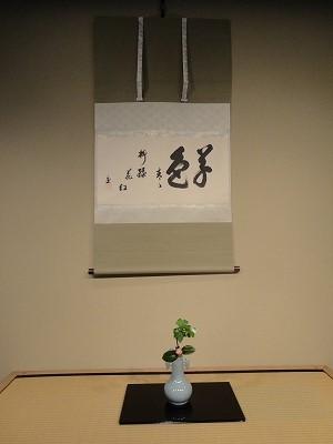 お軸と茶花