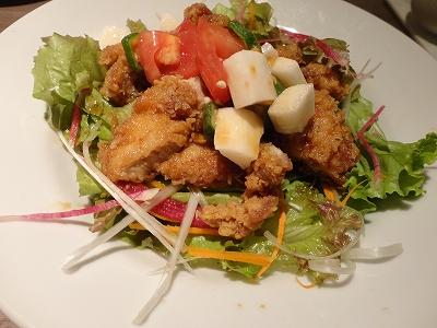鶏から揚げのサラダ
