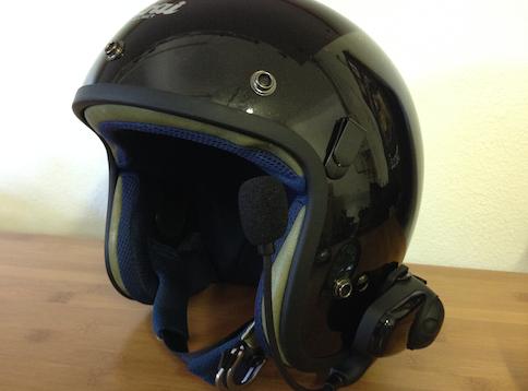 アライヘルメットにSMH10を装着
