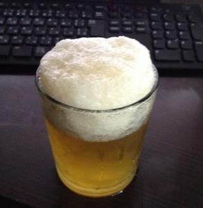 ビールきんきんです