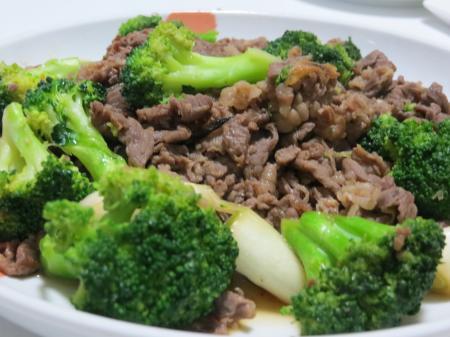 牛肉とブロッコリー