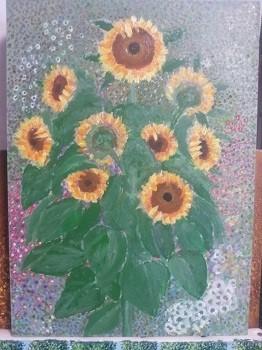 クリムト風向日葵