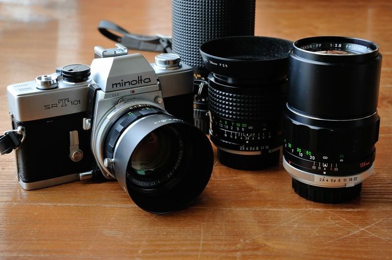 Minolta SR-T101 + Rokkor Lenses
