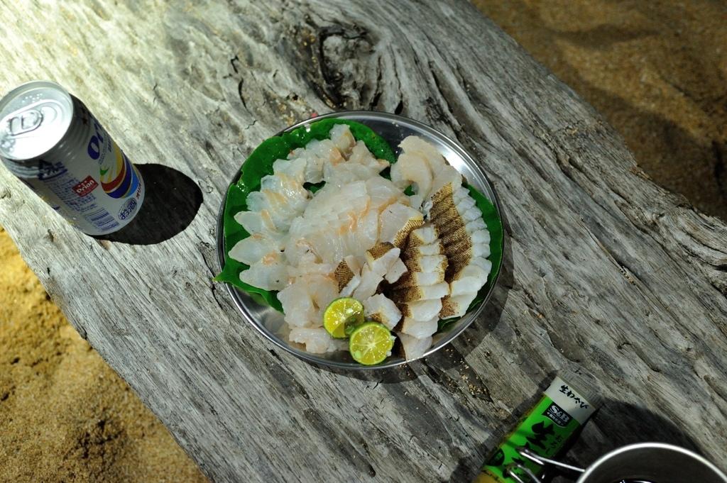 キャンプでの魚メシ