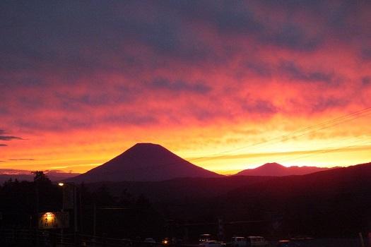 中山峠 夕陽