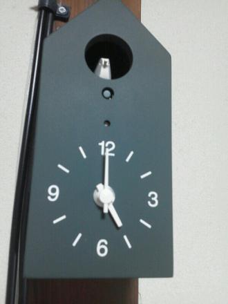 バスケットのサイズを確認しにマークイズに行ってみたところ、胸がきゅんとなる鳩時計を見つけました