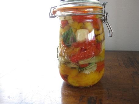 夏野菜のオイルマリネ