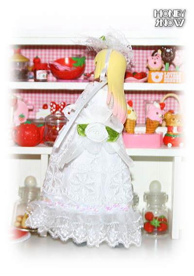 1/12DOLL 【ウエディングドレス】 服 武装神姫、figma、リボルテック、オビツ11、ピコニーモ(LilFairy)