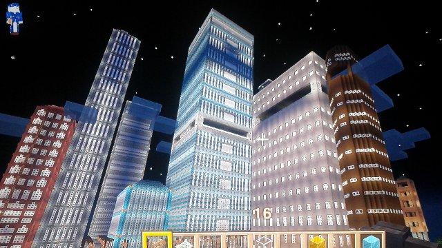 違う角度から中央ビルと見ています。他2種も更に追加。デザインも多種多様とアレンジしてみました。用途は未だ不明ですが