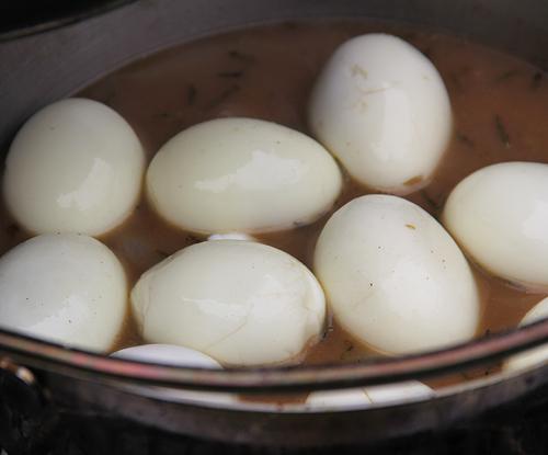 ダッチオーブンゆで卵