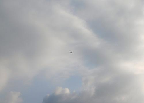 オーバーハンド飛行中。