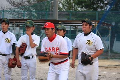 高橋慶彦さん野球教室開催