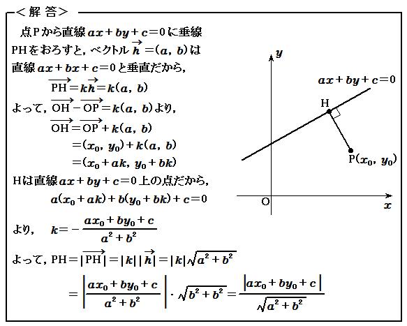 例題73 ベクトル 内積 解答