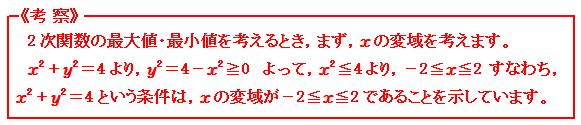 関数 条件付きの2次関数の最大・最小 考察